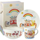 Buy Little Rhymes Little Rhymes 3-Piece Breakfast Set Noah's Ark at Louis Potts