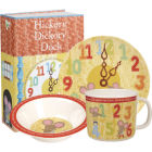 Buy Little Rhymes Little Rhymes 3-Piece Melamine Set Hickory Dickory Dock at Louis Potts