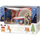 Buy Little Rhymes Little Rhymes 3-Piece Melamine Set Santa Got Stuck at Louis Potts