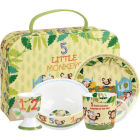 Buy Little Rhymes Little Rhymes 4-Piece Breakfast Set Five Little Monkeys at Louis Potts