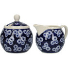 Buy London Pottery Out Of The Blue Cream Jug & Sugar Basin Set Of 2 Daisies at Louis Potts