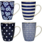 Buy London Pottery Out Of The Blue Out Of The Blue Mug Straight Set of 4 at Louis Potts