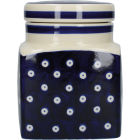 Buy London Pottery Out Of The Blue Storage Jar Blue & White Circles at Louis Potts