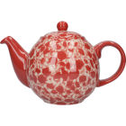 Buy London Pottery Splash 2-Cup Teapot Splash Red at Louis Potts