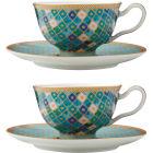 Buy Maxwell & Williams Teas & Cs Kasbah Espresso Cup & Saucer Set of 2 Mint at Louis Potts