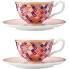 Buy Maxwell & Williams Teas & Cs Kasbah Espresso Cup & Saucer Set of 2 Rose at Louis Potts