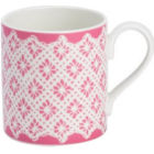 Buy Nina Campbell Rosa Alba Mug Larch Lace at Louis Potts