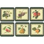 Buy Pimpernel Fruits and Floral RHS Hookers Fruits Coasters Set of 6 at Louis Potts