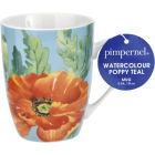 Buy Pimpernel Fruits and Floral Watercolour Poppy Teal Mug at Louis Potts