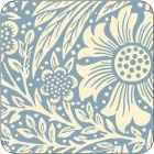 Pimpernel William Morris Marigold Blue Coasters Set of 6