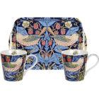 Buy Pimpernel William Morris Strawberry Thief Blue Mug Pair & Tray Set at Louis Potts