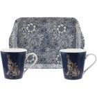 Buy Pimpernel William Morris Wightwick Mug Pair & Tray Set at Louis Potts