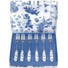 Buy Portmeirion Botanic Blue Pastry Forks Set of 6 at Louis Potts