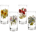 Buy Portmeirion Botanic Garden Hiball Glass Painted Set of 4 at Louis Potts