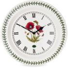 Buy Portmeirion Botanic Garden Wall Clock Poppy 25cm (Poppy) at Louis Potts