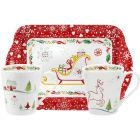 Buy Portmeirion Christmas Wish Mug & Tray Set at Louis Potts