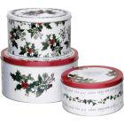 Buy Portmeirion The Holly and The Ivy Cake Tin Set of 3 at Louis Potts