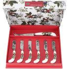 Buy Portmeirion The Holly and The Ivy Cheese Knife & 6 Spreaders at Louis Potts