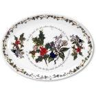 Buy Portmeirion The Holly and The Ivy Oval Platter 33cm at Louis Potts