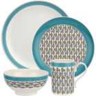 Buy Portmeirion Westerly 4 Piece Set Turquoise at Louis Potts