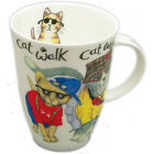 Buy Roy Kirkham Cats & Dogs Cat Animal Fashion Louise Mug at Louis Potts