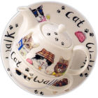 Buy Roy Kirkham Cats & Dogs Cat Animal Fashion Tea For One at Louis Potts