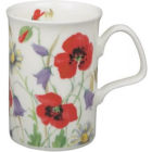 Buy Roy Kirkham Floral English Meadow Lancaster Mug Red at Louis Potts
