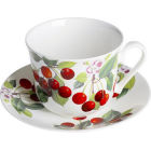 Buy Roy Kirkham Fruits Cherry Breakfast Cup & Saucer at Louis Potts
