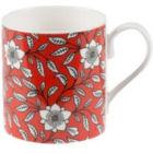 Buy Roy Kirkham Primrose Bordier Mug Larch Blossom Red at Louis Potts
