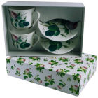 Buy Roy Kirkham Redoute Rose Giftboxed Set of 2 Breakfast Cup & Saucer at Louis Potts