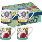 Buy Royal Horticultural Society RHS Mugs Mug Small Set of 4 Blooms & Butterflies at Louis Potts