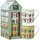 Buy Royal Horticultural Society RHS Mugs Stacking Mug Set of 2 Country Garden Greenhouse at Louis Potts