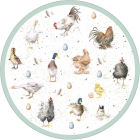Buy Wrendale Wrendale Round Placemat Farmyard Feathers Set of 4 at Louis Potts