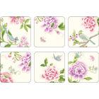 Sanderson Porcelain Garden Coasters Set of 6