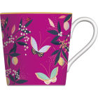 Buy Sara Miller Orchard Collection Mug Orchard Butterflies Fuchsia at Louis Potts
