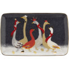 Buy Sara Miller Christmas Collection Biscuit Tray 19cm Christmas Geese at Louis Potts