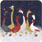 Buy Sara Miller Christmas Collection Coaster Set of 6 Christmas Geese at Louis Potts