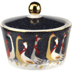 Buy Sara Miller Christmas Collection Lidded Bowl 10cm Christmas Geese at Louis Potts