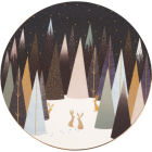 Buy Sara Miller Frosted Pines Collection Round Serving Plate 23cm Frosted Pines at Louis Potts