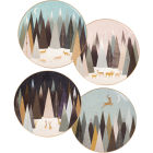 Buy Sara Miller Frosted Pines Collection Side Plate 20cm Set of 4 Assorted Frosted Pines at Louis Potts