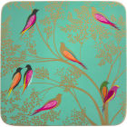 Buy Sara Miller Placemats & Coasters Collection Coaster Set of 6 Chelsea Green Birds at Louis Potts