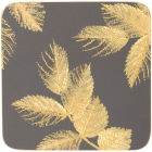 Buy Sara Miller Placemats & Coasters Collection Coaster Set of 6 Etched Leaves Dark Grey at Louis Potts