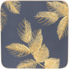 Buy Sara Miller Placemats & Coasters Collection Coaster Set of 6 Etched Leaves Navy at Louis Potts