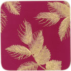Buy Sara Miller Placemats & Coasters Collection Coaster Set of 6 Etched Leaves Pink at Louis Potts