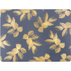 Buy Sara Miller Placemats & Coasters Collection Placemat Set of 4 Etched Leaves Navy at Louis Potts