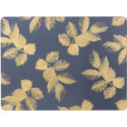 Buy Sara Miller Placemats & Coasters Collection Placemat Set of 4 Large Etched Leaves Navy at Louis Potts