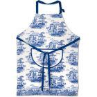 Buy Spode Blue Italian Apron Cotton Drill at Louis Potts