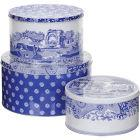 Buy Spode Blue Italian Cake Tin Set of 3 at Louis Potts