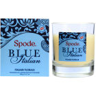 Buy Spode Blue Italian Glass Candle Wax Filled Italian Florals at Louis Potts