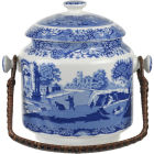 Buy Spode Blue Italian Handled Biscuit Barrel at Louis Potts